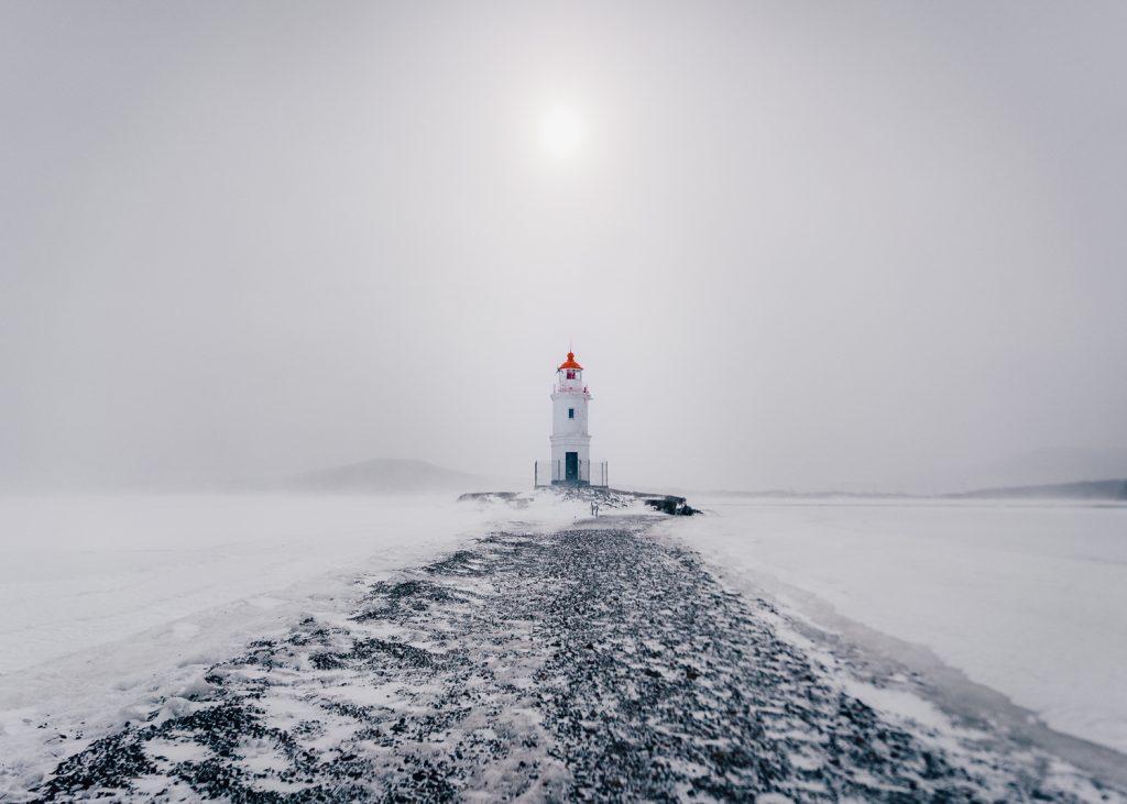 The path to Tokarevskiy Lighthouse in Vladivostok