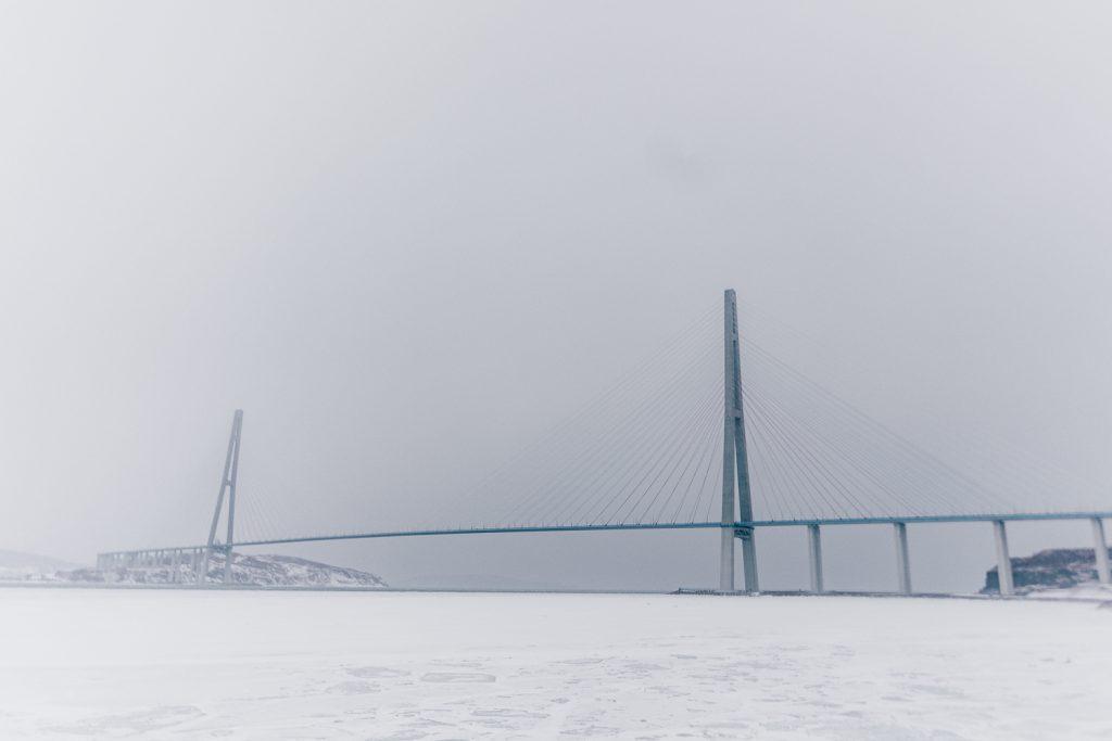 Russky Island Bridge in Vladivostok